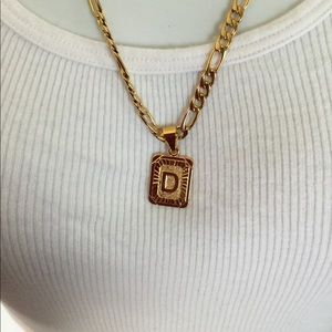 "Other - New 18k gold "" D "" necklace"